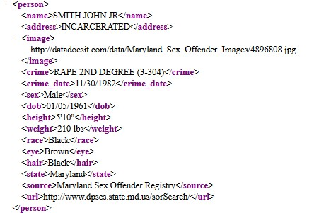 dept of corrections api